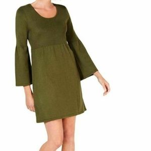 NY Collection Petite XL Green Dress M8-05